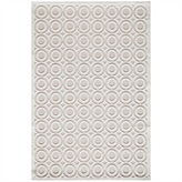 Momeni Platinum Textured Circles Rectangular Rug