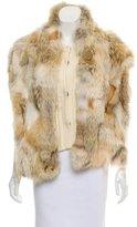 Miu Miu Fur-Trimmed Knit Vest