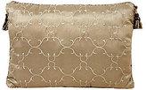 Veratex Corsica Tufted Faux-Silk Tasseled Boudoir Pillow
