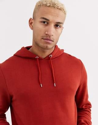 Asos Design DESIGN hoodie in rich brown