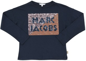Little Marc Jacobs L/s Sequined Cotton Jersey T-shirt
