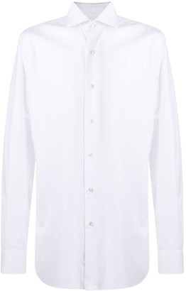 Barba Pointed Collar Cotton Shirt