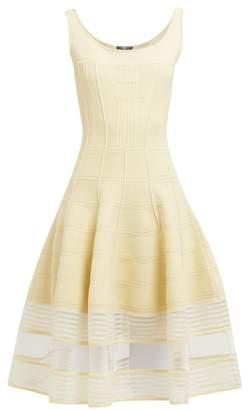 Alexander McQueen Panelled Stretch Knit Midi Dress - Womens - Light Yellow