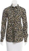 M Missoni Leopard Print Button-Up Top