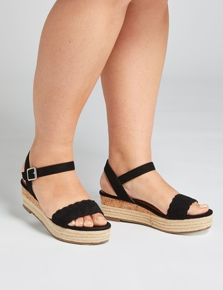 Lane Bryant Woven Espadrille Wedge Sandal