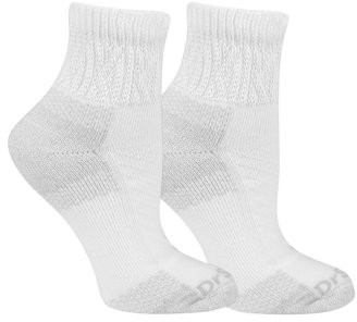 Dr. Scholl's Women's Diabetic and Circulatory Advanced Relief Ankle Socks with Blister Guard 2 Pack