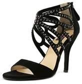 Mojo Moxy Mystery Women Open-toe Suede Black Heels.