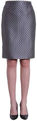 Boutique Moschino Polka Dot Pencil Skirt
