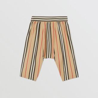 Burberry Childrens Icon Stripe Cotton Poplin Trousers