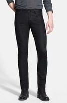 John Varvatos Men's Collection Skinny Fit Coated Jeans