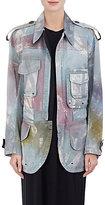 Acne Studios Women's Tie-Dyed Cotton Field Jacket-GREEN, DARK GREEN