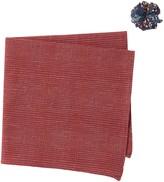 Original Penguin Edna Grid Pocket Square & Lapel Pin Set