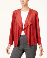 Alfred Dunner Gypsy Moon Faux-Suede Draped Jacket