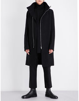 Rick Owens High-neck Wool-blend Coat