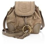 See by Chloe Small Polly Whipstitch Suede & Leather Bucket Bag