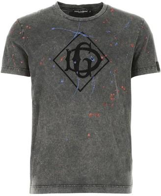 Dolce & Gabbana Monogram Paint Splatter T-Shirt