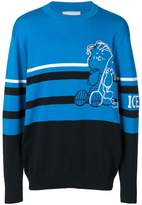 Iceberg embroidered striped sweater