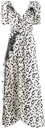 Self-Portrait Leopard Print Long Dress