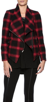 BB Dakota Asymmetrical Plaid Jacket