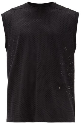 Rick Owens X Champion Logo-applique Mesh T-shirt - Mens - Black