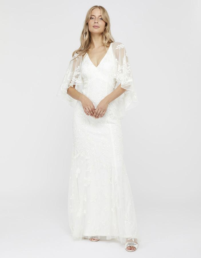 Under Armour Christabel Bridal Embellished Maxi Dress Ivory