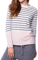 Striped Tangram Kitten Cashmere Pullover