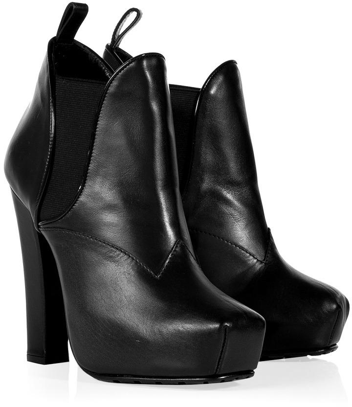 Proenza Schouler Black Platform Ankle Boots