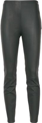 Lorena Antoniazzi Panelled Leather Leggings