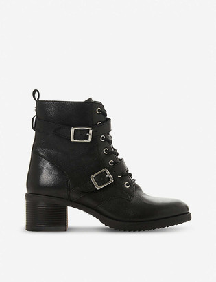 Dune Paxtone buckled leather boots