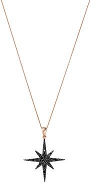 Bloomingdale's Black Diamond Starburst Pendant Necklace in 14K Rose Gold, 17 - 100% Exclusive