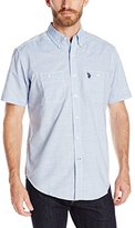 U.S. Polo Assn. Men's Chambray Short Sleeve Woven Sport Shirt
