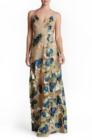 Dress the Population Women's 'Florence' Embroidered Woven Gown
