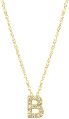 Ron Hami 14K Yellow Gold Diamond Initial Slider Pendant Necklace - 0.03 ctw - Multiple Letters Available