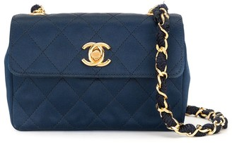 Chanel Pre Owned Mini Quilted Chain Shoulder Bag