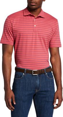 Peter Millar Men's Dunns Striped Polo Shirt