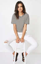 PacSun Miami White Ripped Mid Rise Skinny Jeans