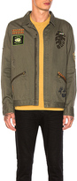 Scotch & Soda Worked Out Shirt Jacket in Green