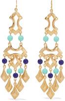 Ben-Amun Gold-plated bead earrings