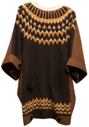 Sacai Beige Wool Dresses