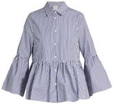 Stella Jean Imminente striped ruffled cotton-poplin shirt