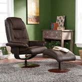 Southern Enterprises Jameson 2-piece Recliner & Ottoman Set