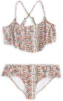 Billabong Girl's Two-Piece Ruffle Swimsuit