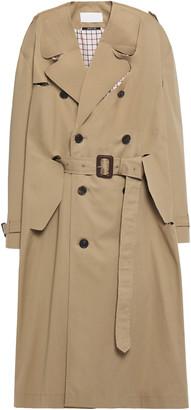 Maison Margiela Cutout Belted Cotton-gabardine Trench Coat