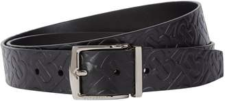 Burberry Leather Reversible Monogram Belt
