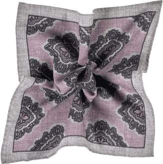 Suitsupply Paisley Wool Pocket Square