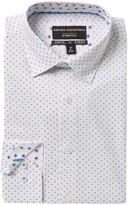 Report Collection Slim Fit Circle Print Dress Shirt