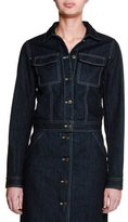 Tomas Maier Button-Front Denim Jacket, Dark Navy