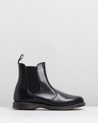 Dr. Martens Women's Black Chelsea Boots - Womens Flora Kensington Chelsea Boots - Size 3 at The Iconic