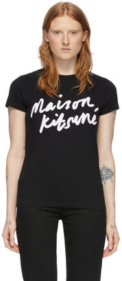 MAISON KITSUNÉ Black Handwriting T-Shirt