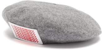 Charles Jeffrey Loverboy Logo-applique Wool-blend Beret - Womens - Grey